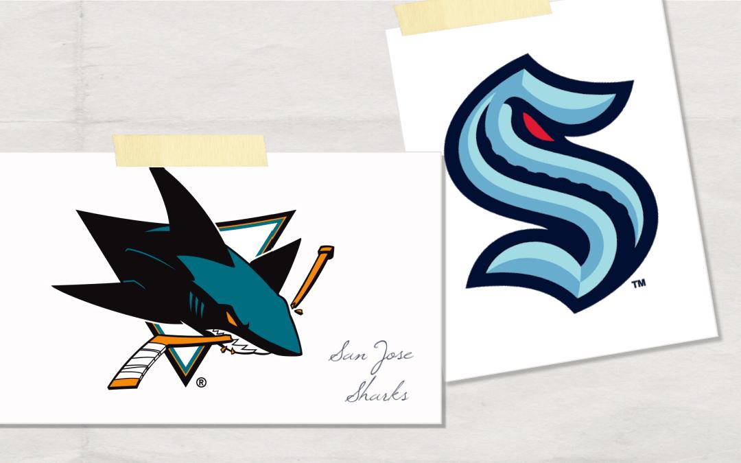 San Jose Sharks & Seattle Kraken logos