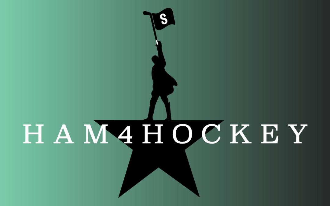 Hamilton logo raising a flag in support of Sound Of Hockey