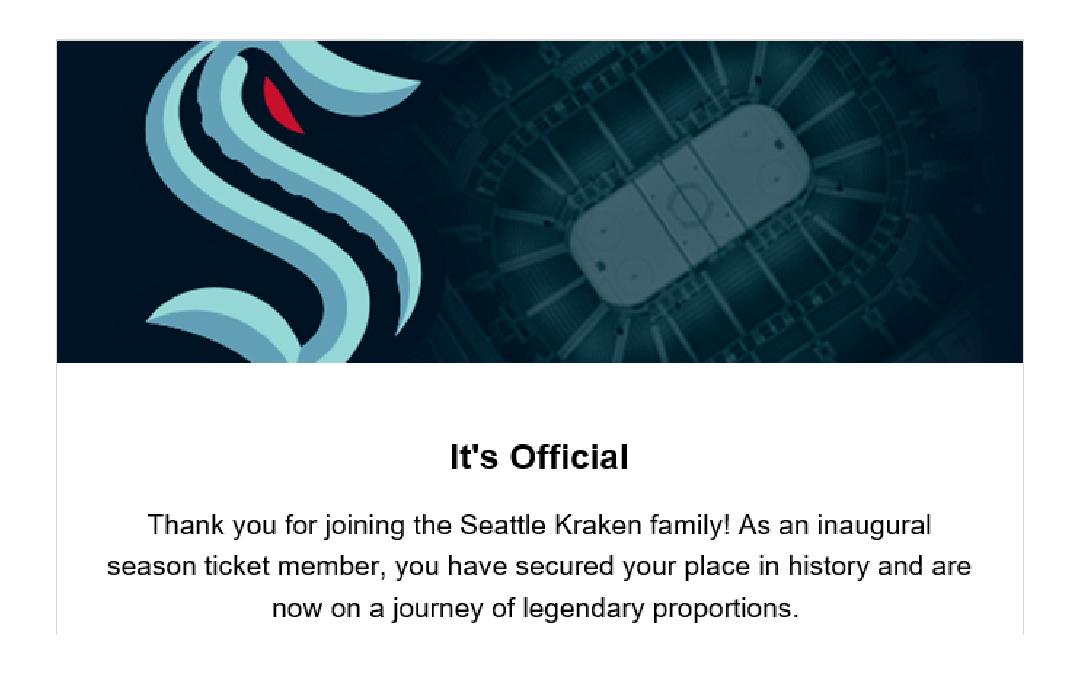 Seattle Kraken Season Tickets