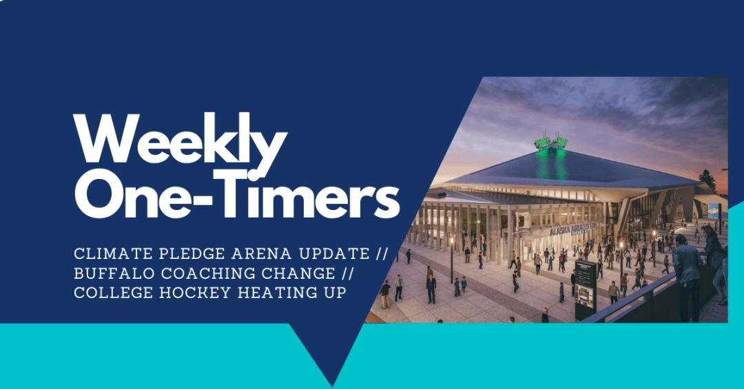 Weekly One-Timers: Climate Pledge Arena update, Buffalo churns again