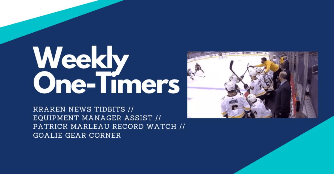 Seattle Kraken news, equipment manager assist, goalie gear – Weekly One-Timers