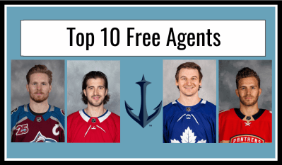 A look at the top 10 NHL free agents and if they fit with the Seattle Kraken