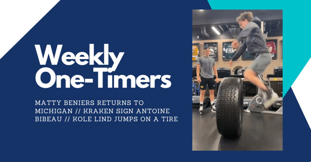 Matty Beniers returns to Michigan, Kole Lind jumps on a tire – Weekly One-Timers