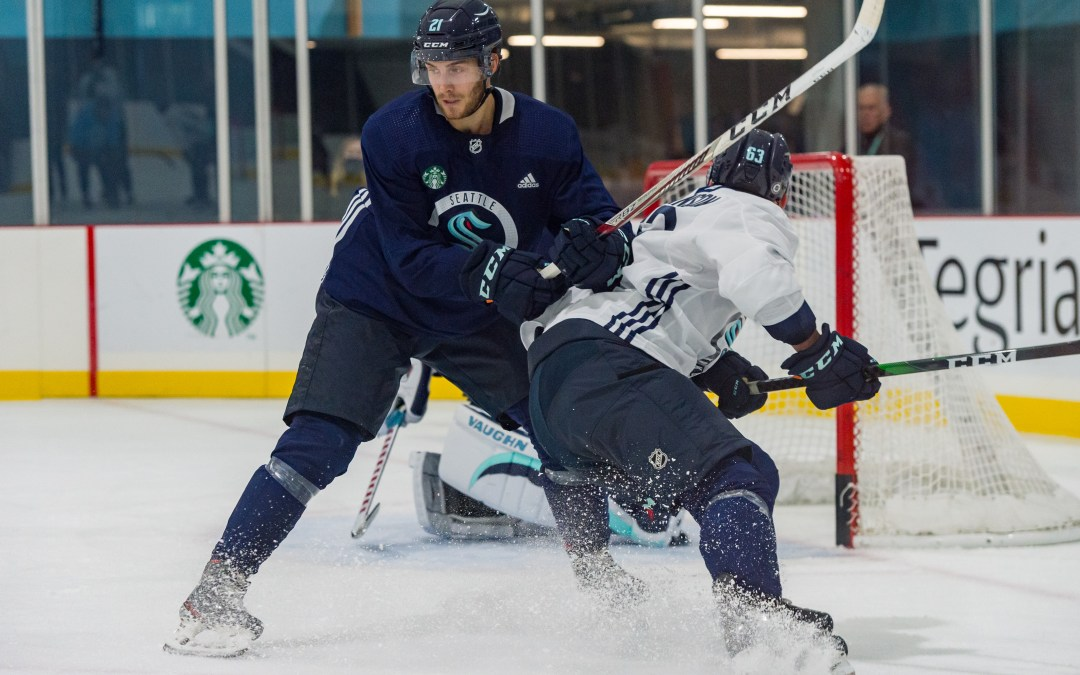 Seattle Kraken practice report: Lines, forecheck and Alex Wennberg back to lineup